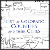 Read a list of Colorado counties and their cities.