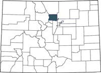 Find Boulder County, Colorado on a map.