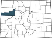 Garfield County, Colorado on a map.