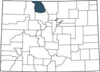 Find Jackson County, Colorado on a map.