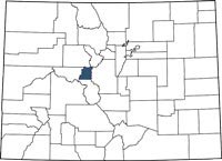 Find Lake County, Colorado on a map.
