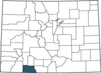 Find Archuleta County, Colorado on a map.