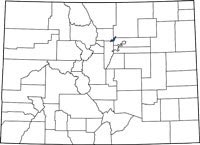 Find Broomfield County, Colorado on a map.