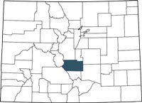 Fremont County, Colorado on a map.