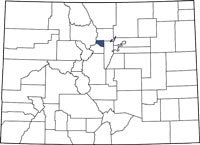 Gilpin County, Colorado on a map.
