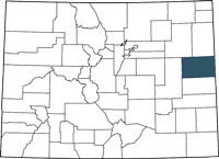 Kit Carson County, Colorado on a map.