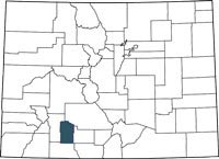 Find Mineral County, Colorado on a map.