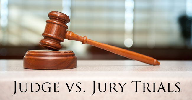 Learn the difference between a jury trial and judge trial in Colorado.